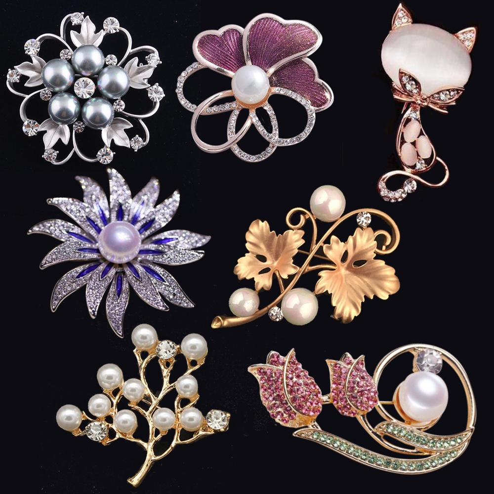 bf5c363b0 Fashion Opal Stone Flower Brooch Pin Women Garment Accessories ...