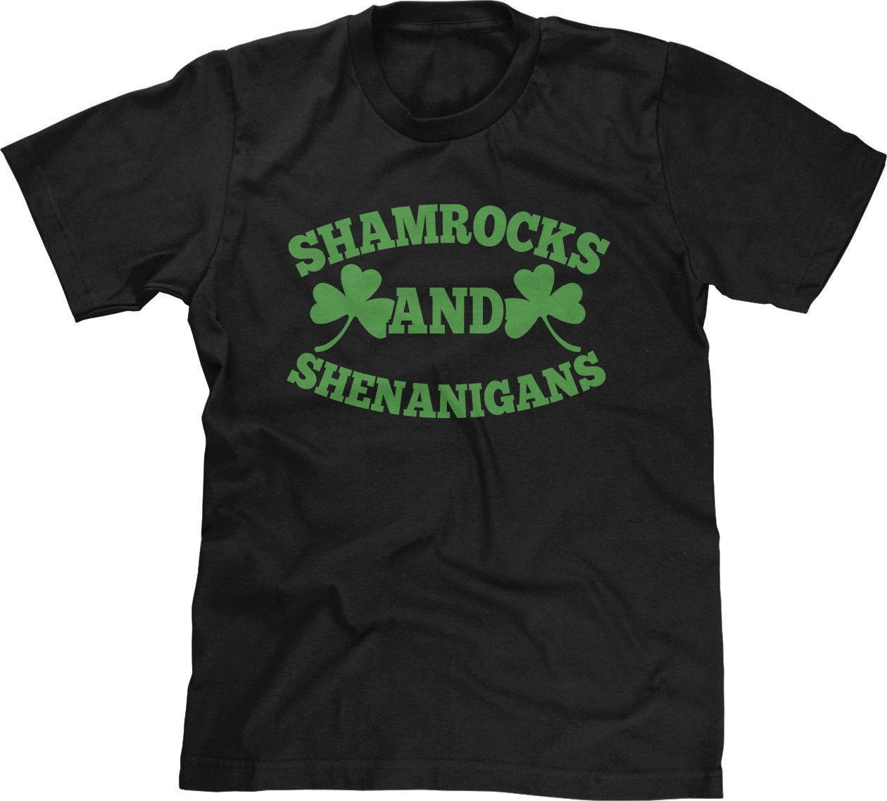 d090bebf5 Shamrocks And Shenanigans Green St Patricks Day Party Slogan Saying Mens  Tee Personality 2018 Brand T Shirt Top Tees Short Sleeve Vintage T Shirts  Band T ...