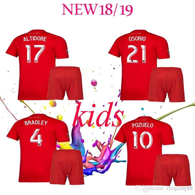 first rate a53d7 ad262 2019 2020 Toronto FC kids kit Soccer Jerseys GIOVINCO BRADLEY ALTIDORE  OSORIO 19 20 Toronto Home boy child Football Shirt Uniform