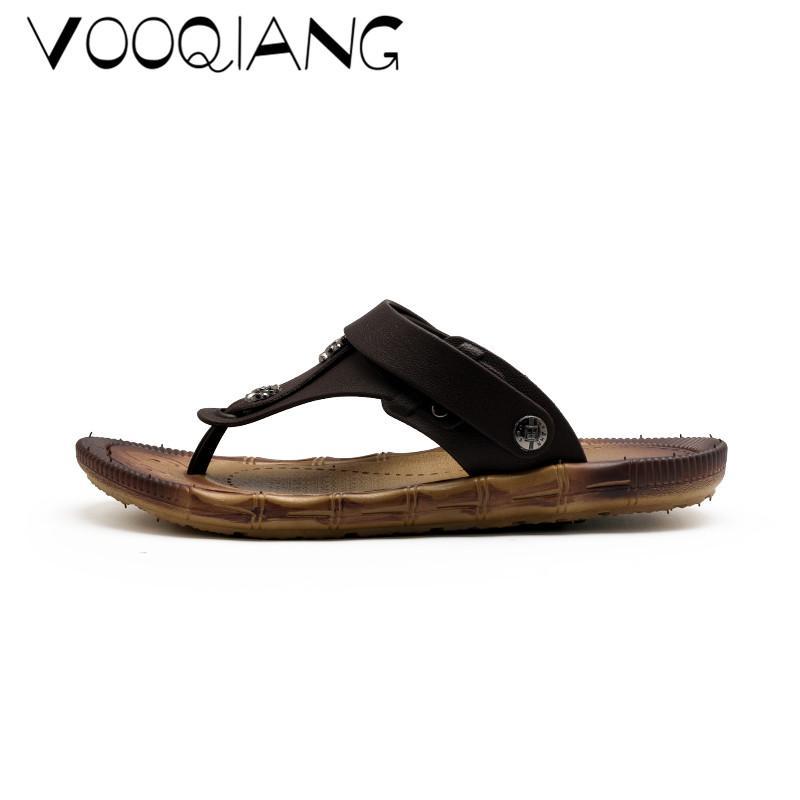 28d1ba60 Compre Moda Hombre Sandalias De Playa Gladiador De Verano Zapatos De Hombre  Romano Hombres Casual Toe Zapato Flip Flop Tamaño Grande 45 Zapatillas  Planas A ...