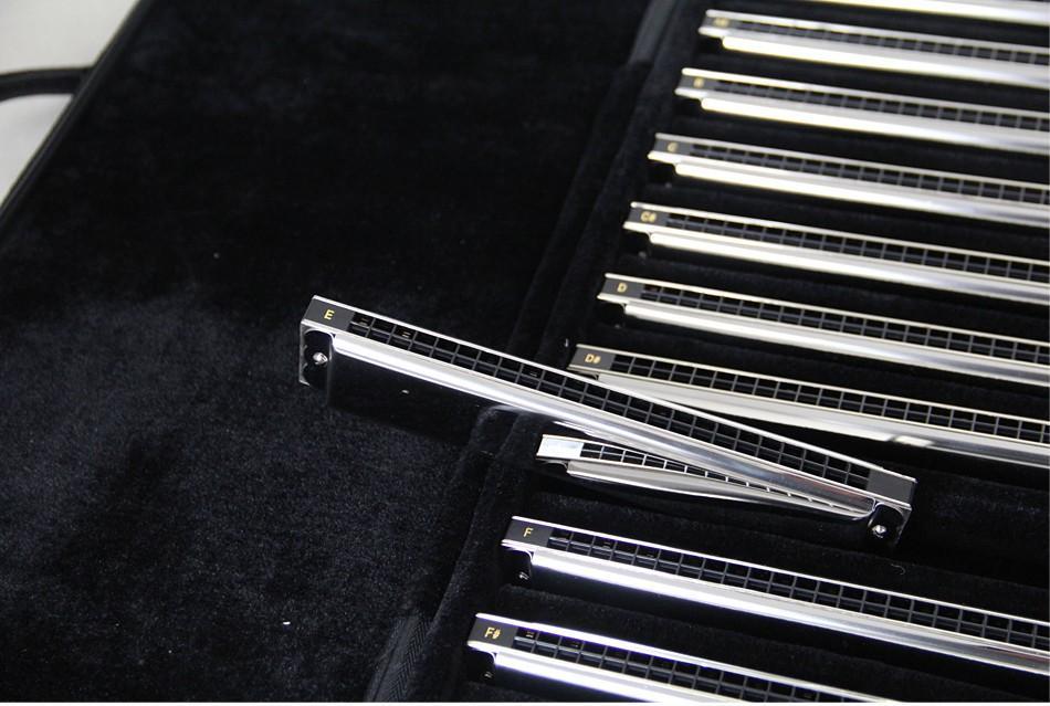 EASTTOP Tremolo Harmonica A A# B C C# D D# E F F# G G# 24 HOLES ALL Tunes harmoica set