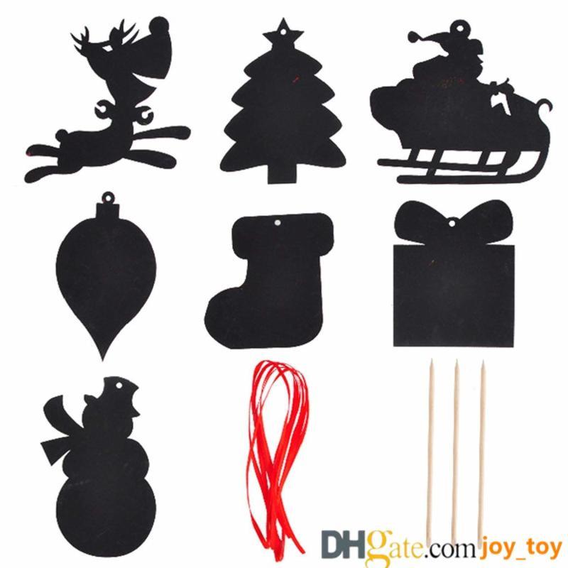 2019 Christmas Scratch Paper Card Kit Graffiti Card Colorful