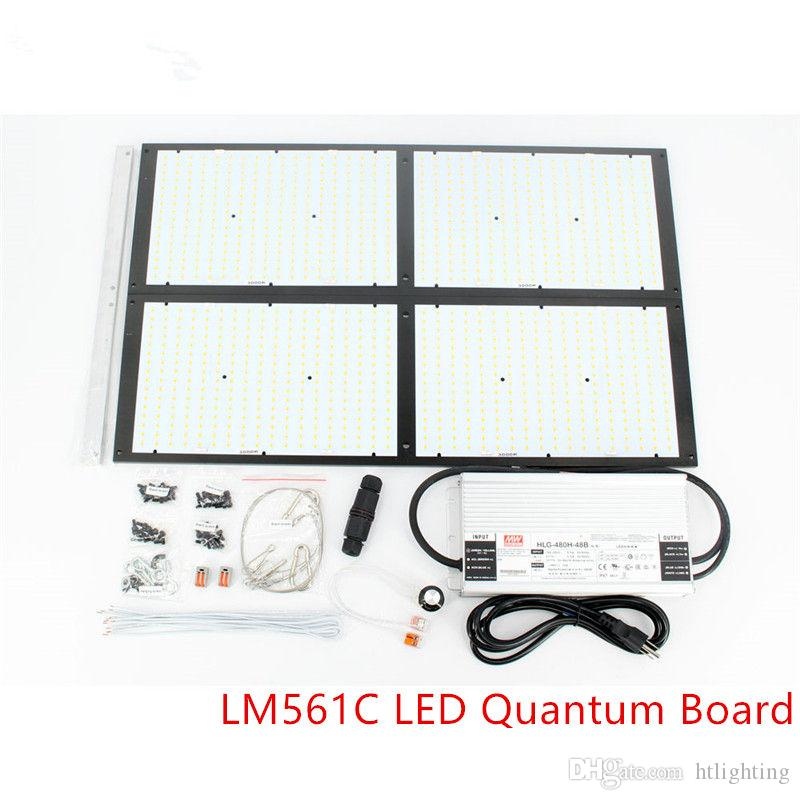 DIY Dimmable 4 x LM561C 500W LED Quantum Board Kit 3000K Full Spectrum LED  Grow Light Plant Indoor Greenhouse Growing Light