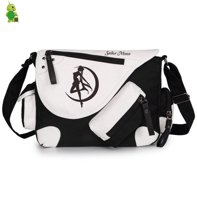 Luggage & Bags Sailor Moon Crystal Luna Cat Messenger Bag For Teens Women Men Large School Shoulder Bags Crossbody Travel Bags
