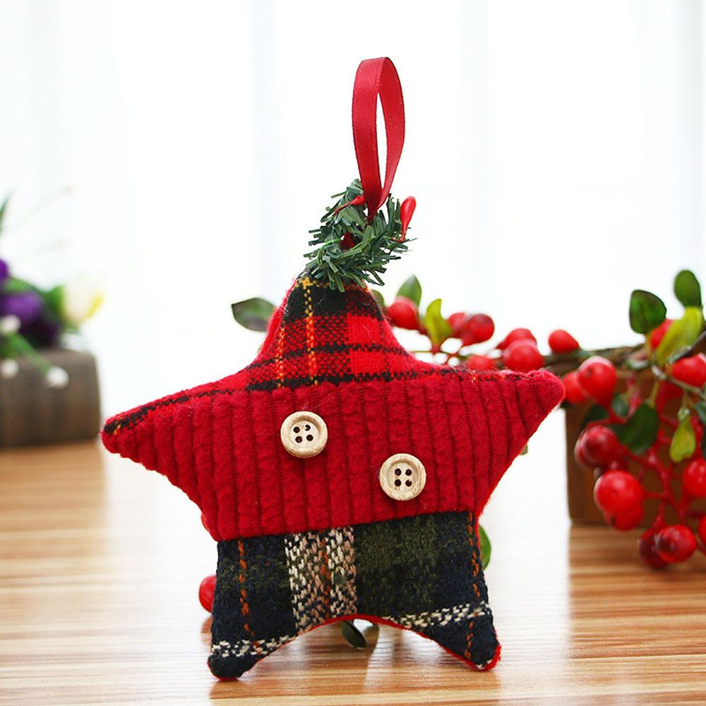 White Christmas Decoration Christmas Ornaments Gift Cloth Santa Claus Toy Doll Hang Decorations Enfeites Arvore De Natal nt#