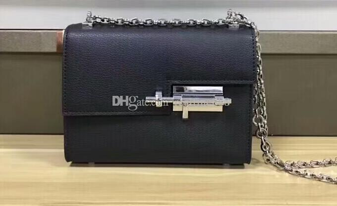 3A Women Verrous Chaine Mini 18cm Shoulder Bag,2 Pockets,palladium plated closure,with Box+Dust Bag,Free DHL Shipping