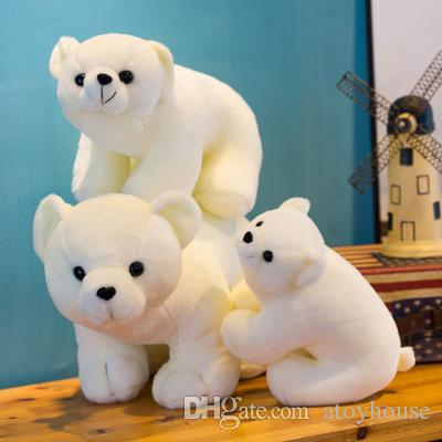 2019 Polar Bear Doll Simulation Small White Bear Plush Toy Custom