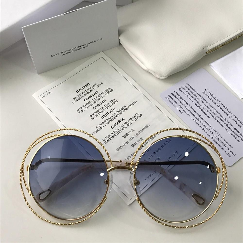 50240a88d381 Newest Vintage Lady Sunglasses Famous Women Designer Round Frame Fashion  Glasses High Quality UV Protection Tassel Eyewear With Box And Case Round  Glasses ...