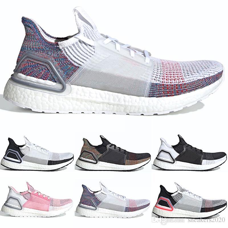 0ddd0942a 2019 2019 Ultra Boost 19 Men Women Running Shoes Ultraboost 5.0 Laser Red  Dark Pixel Core Black Ultraboosts Trainers Sports Sneakers Size 5 12 From  ...