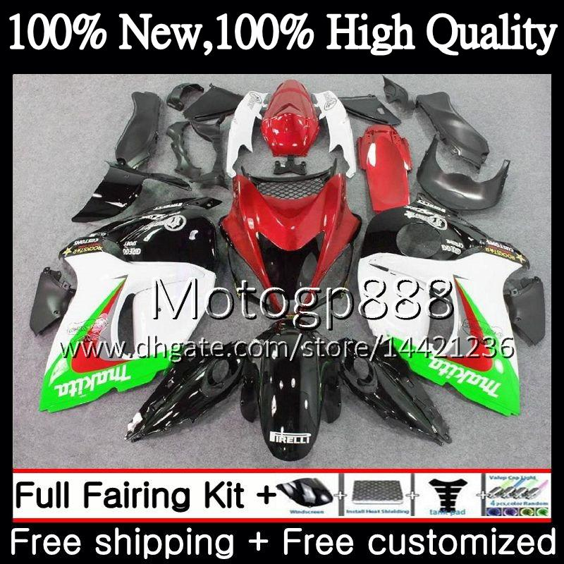 Body For SUZUKI Hayabusa GSXR1300 08 09 10 11 Green black 19PG38 GSX R1300 12 13 14 15 GSXR 1300 2012 2013 2014 2015 Fairing Bodywork