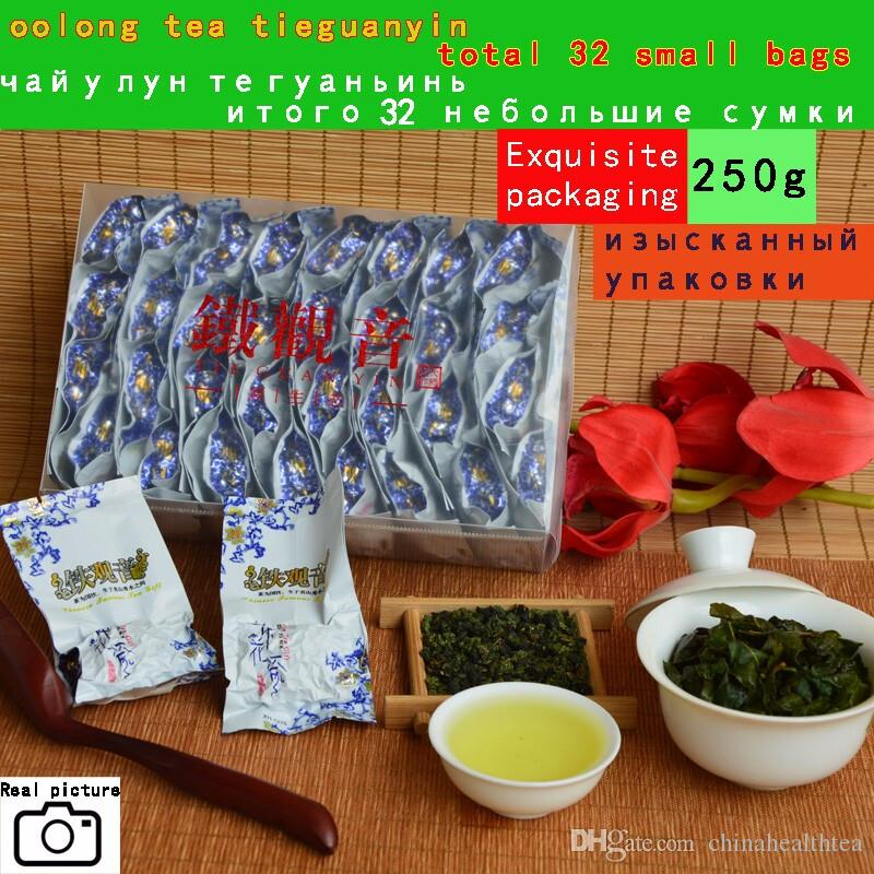 2019 new tea Top grade Chinese Oolong tea ,vacuum pack total 32 small bags 250g TieGuanYin tea organic natural health care products