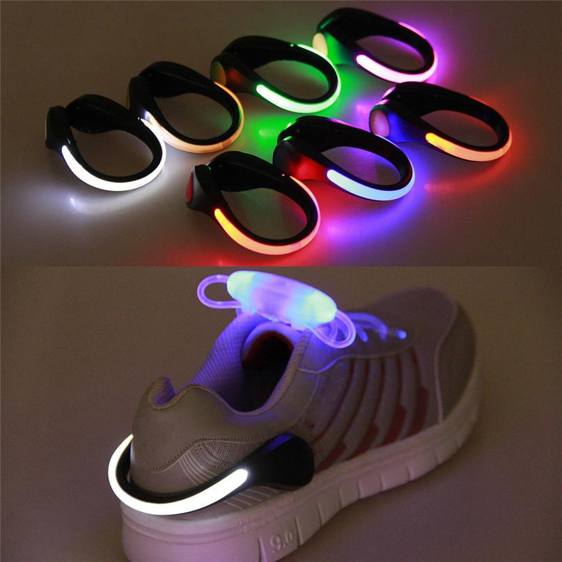 LED Luminous Shoe Clip Light Night Safety Warning LED Flash Light For Running Cycling Bright Flash Useful Outdoor Tool #F