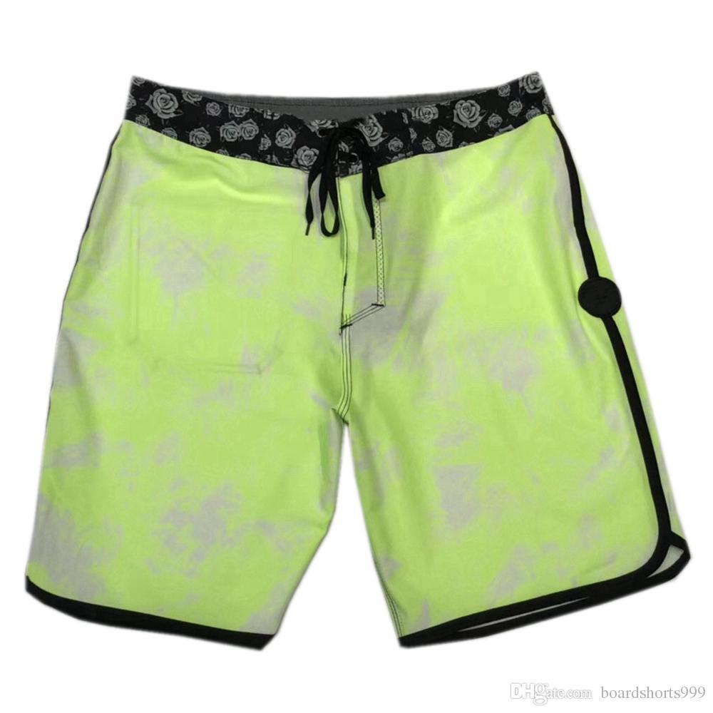 fb3b07c6a9b2c 2019 Awesome 4 Way Stretch Fashion Shorts Mens Spandex Striped Swim Trunks  Quick Dry Surf Pants Loose Beach Pants Bermudas Shorts Board Shorts From ...