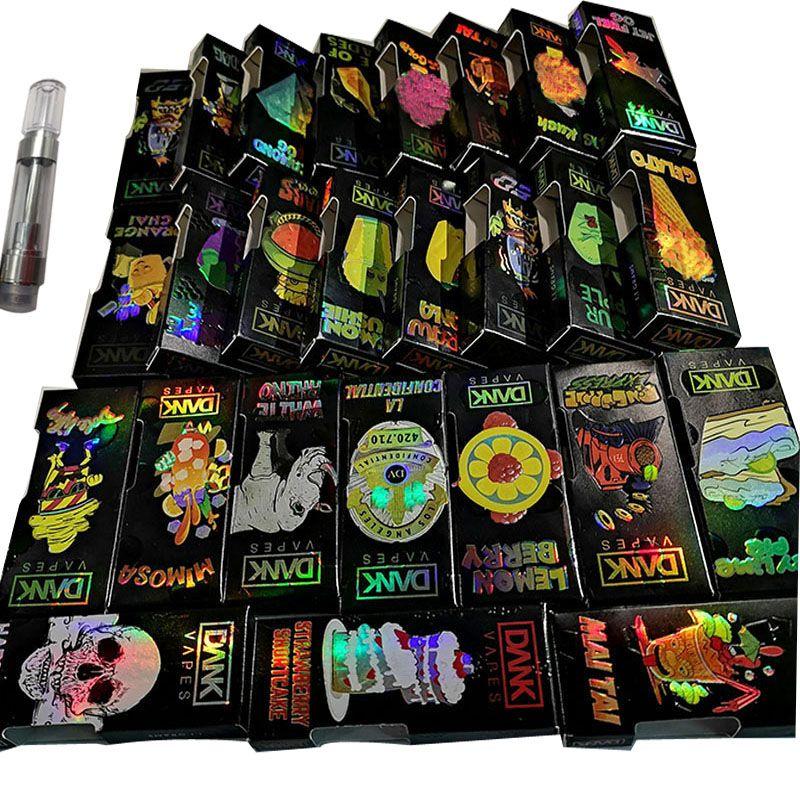 Holographic Dank Vapes 510 Thread Vape Pen Cartridge Packaging Empty  Cartridges Ceramic Vape Carts 1ML 0 8ML Oil Vaporizer Pen Atomizer