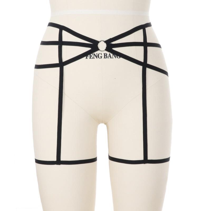 28371196951 2019 Women Sexy Garter Belt Elastic Cage Body Harness Hollow Out Leg Garter  Suspender Belt Underwear Strap Leg From Gavinuni