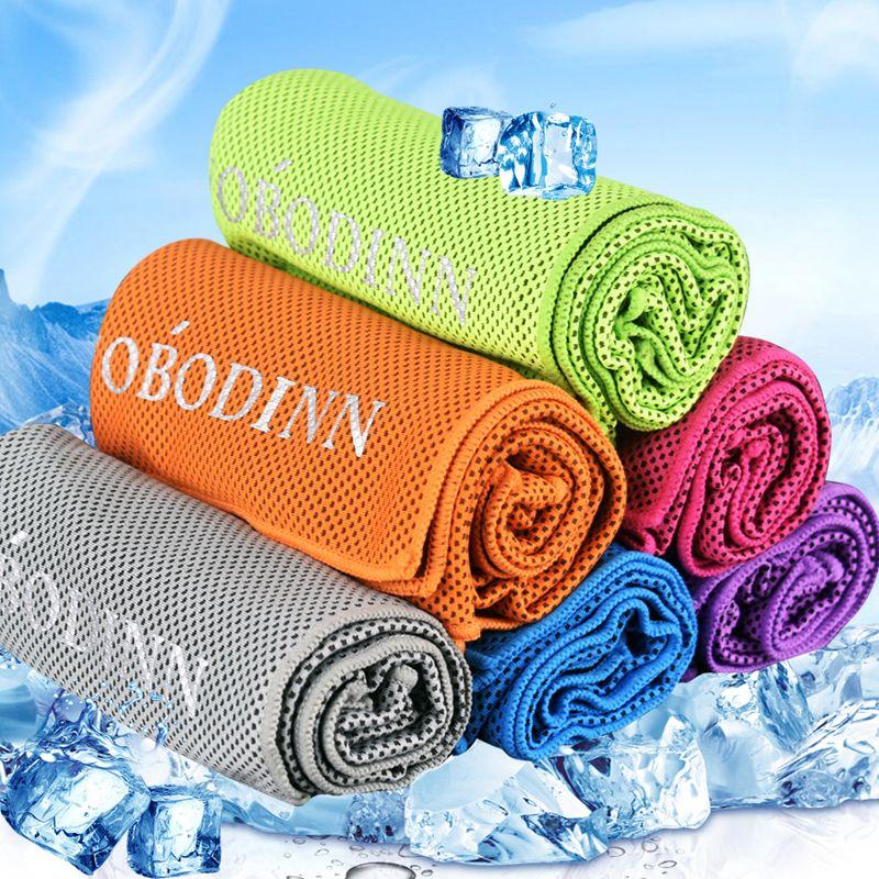 30 * 100 cm Ice Cold Towel Foulards De Refroidissement En Plein Air D'été Été Sunstroke Sports Exercice Cool À Séchage Rapide Doux Respirant Serviette De Refroidissement