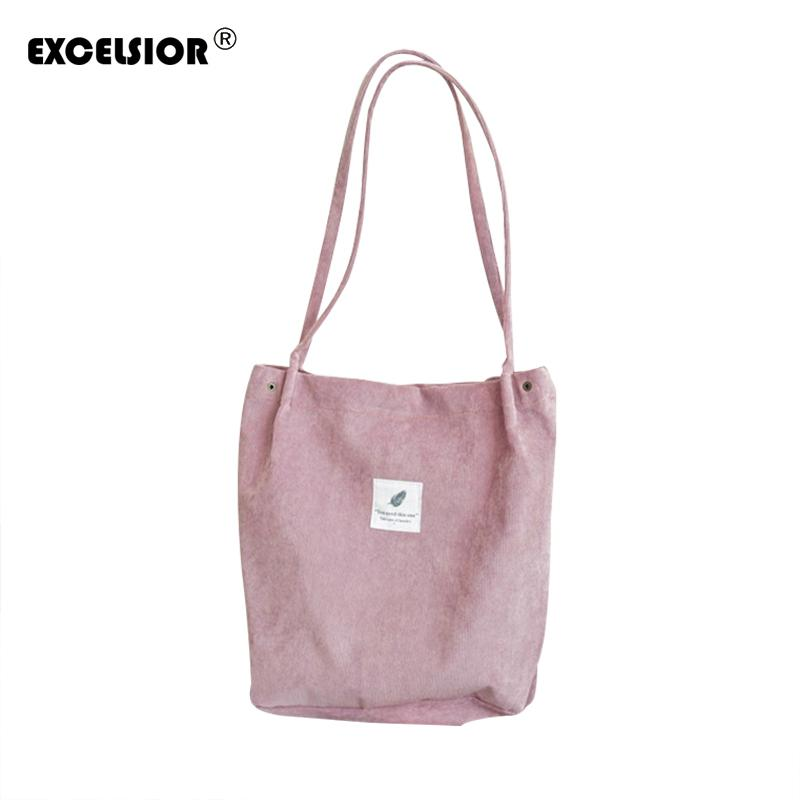c45eee765737 Designer EXCELSIOR Corduroy Women S Bags Floral Large Capacity Tote Canvas  Handbag Shopping Bag Beach Bags Casual Tote Feminina G1658 Cheap Purses  Handbags ...