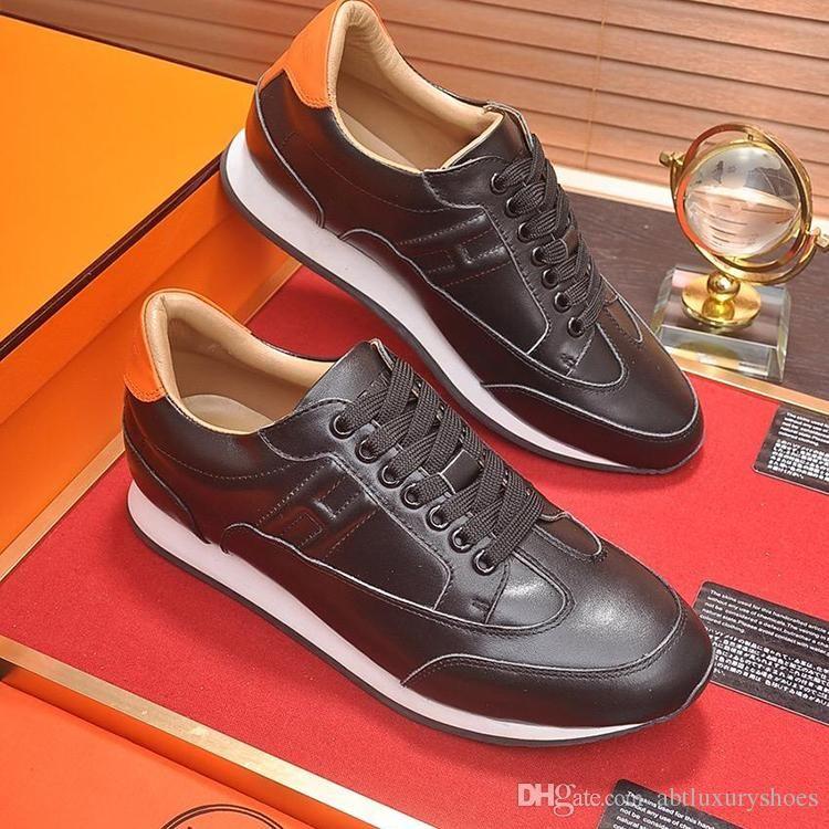 d18e67326d83 Fashion Sneakers Shoes Footwears Autumn New 2018 Casual Shoes Mens Leather  Flats Lace-Up Shoes Simple Stylish Large Size Zapatos de hombre