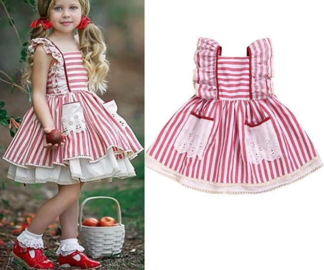 c40800e251797 New 2019 Girl Summer Dresses Kids Designer Clothes Girls Striped Dress Baby  Girl Clothes Sleeveless Kids Clothing BY1007 Baby Girls Clothes Kids  Designer ...