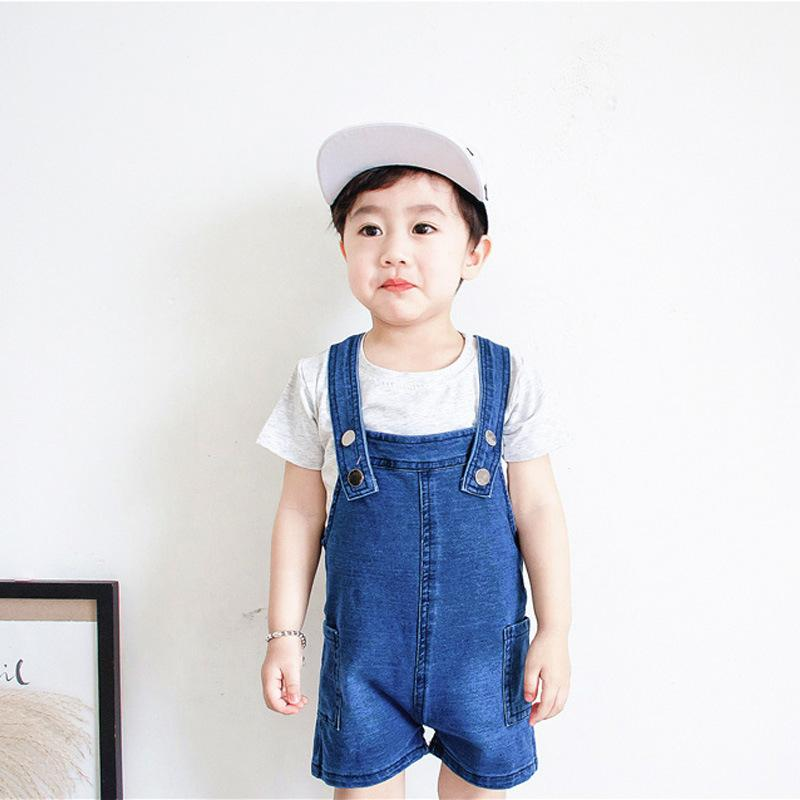 45a8138e59a Baby Boy Overalls Denim Shorts 2018 New Summer Toddler Baby Suspender  Pocket Boy Blue Cute Children S Overalls For Kids Cheap Suspenders Toddler  Boy ...