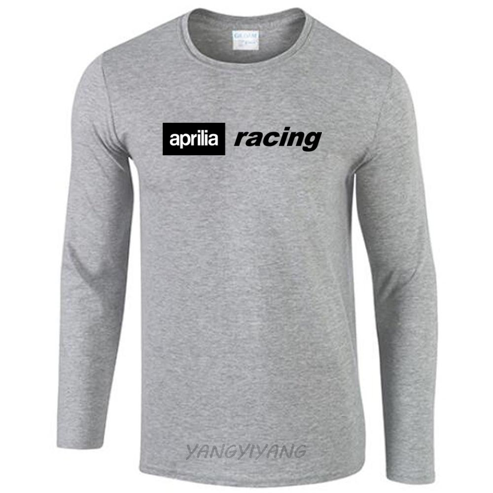 ab0929e900c4b Aprilia Logo Motorbike Red Cotton T Shirt Casual Style Cotton 100% Men S  Long Sleeve Tshirt Large Size Clothes D19010901 Vintage T Shirts Band T  Shirts From ...
