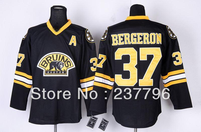 3d7943d16 2019 New Adult Ice Hockey #37 Patrice Bergeron Black Jersey Boston Bruins  Third Jerseys For Sport Fans Good Quality 100% Embroidery From Jerseysword,  ...
