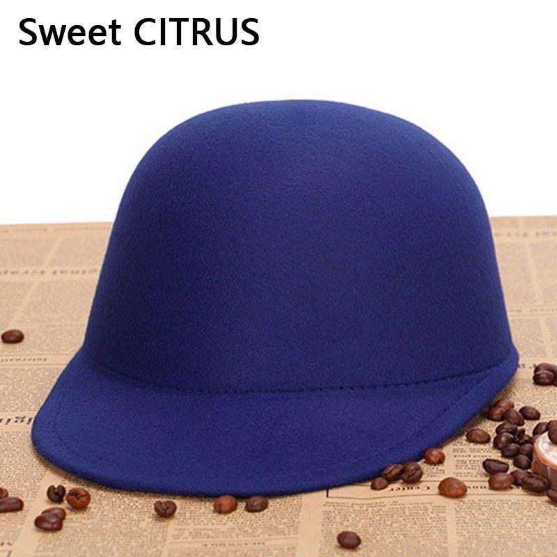 c3d8a695e14 2019 Sweet CITRUS Vintage Winter Fedoras Hat For Female Equestrian Cap  Ladies Girls Sun Hats Homburg Cute Women S Fedora Children Hat From Shukui