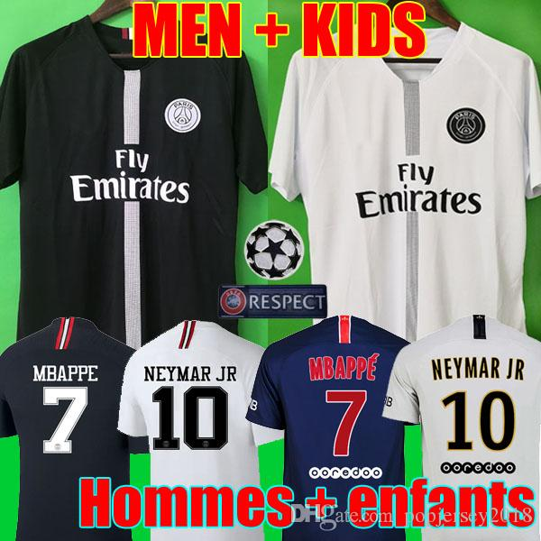 7a007c9eb 2019 Thailand Maillots PSG Soccer Jersey 2019 Paris MBAPPE Saint Germain  Jersey 18 19 Camisetas Football Kit Champions Shirt Men Kids From  Popjersey2018, ...