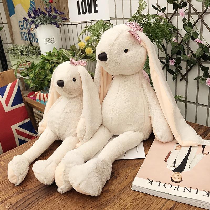 00bfd0f422c9b Großhandel Mode Niedlich Lange Eared Kaninchen Plüschtier Weiche Süße  Angefüllte Spielwaren Fliege Bunny Baby Schlafkissen Plüsch Kissen Mädchen  Geschenke ...