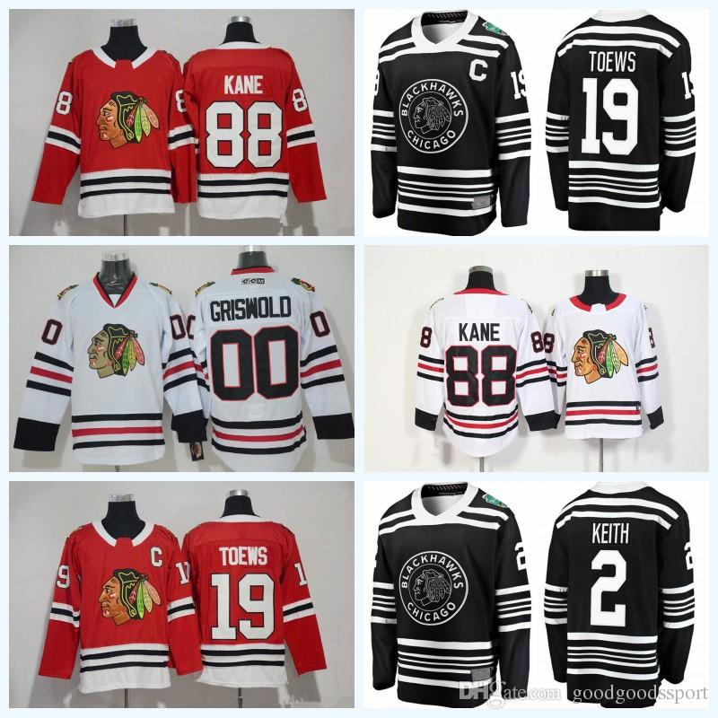 2019 2019 Winter Classic Chicago Blackhawks Jersey Hockey Duncan Keith  Jonathan Toews 88 Patrick Kane Corey Crawford Patrick Sharp Saad Griswold  From ... 2ca9a45bb73
