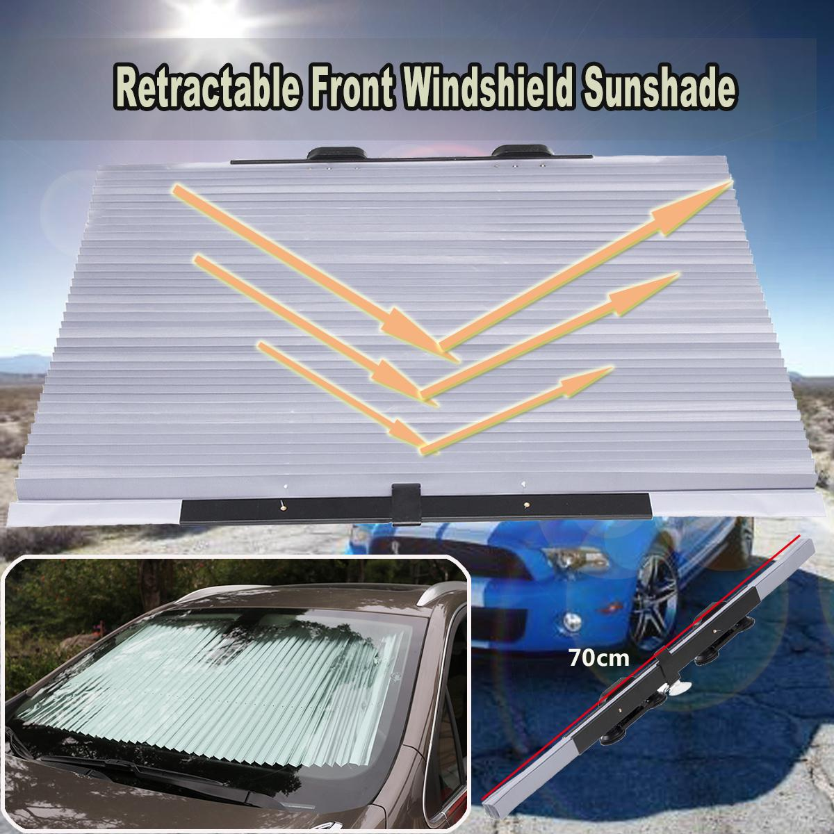 70cm Retractable Car Front Windshield Sun Shade Block Sunshade Cover Sun  Visor Window Foil Curtain Folding External Parts Of Car External Parts Of  The Car ... 801c4586812