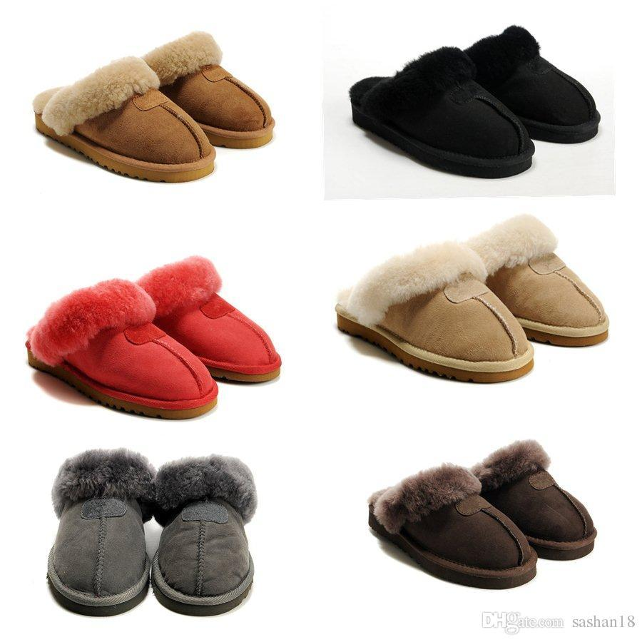a126af2c32a 2019 Warm cotton slippers Men And Womens slippers Short Brand Designer  Indoor cotton slippers Leather boots Size: US5-10