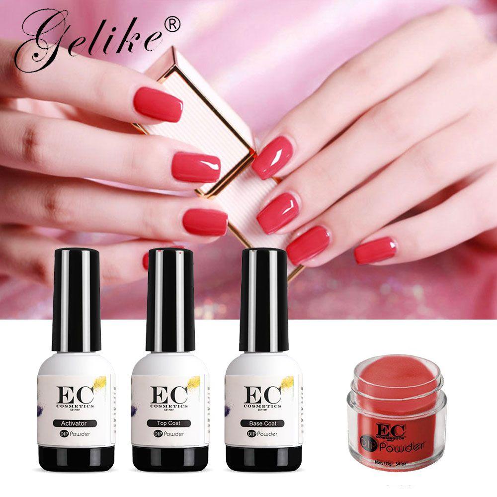 Gelike 10g/Pcs Dip Powder Nail Art Acrylic Gel Polish Manicure Ping ...