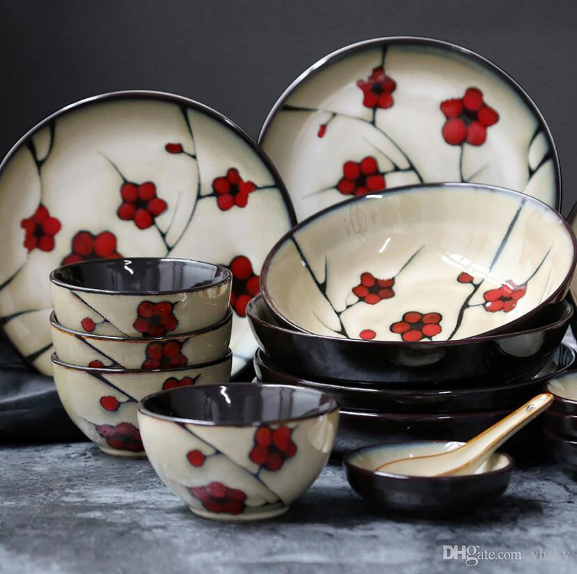 Großhandel Hohe Qualität China Keramik Porzellan Rote Pflaume