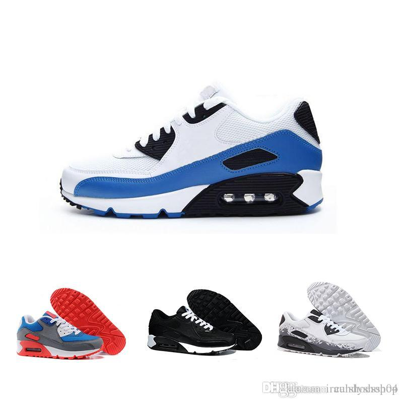 official photos 191ef d327b Acheter Nike Air Max 2019 Classic 90 Chaussures Max90 Chaussures De Course  Pour Hommes Femmes, Mode Air90 Coussin Athlétique Sportive Baskets Années  90 De ...