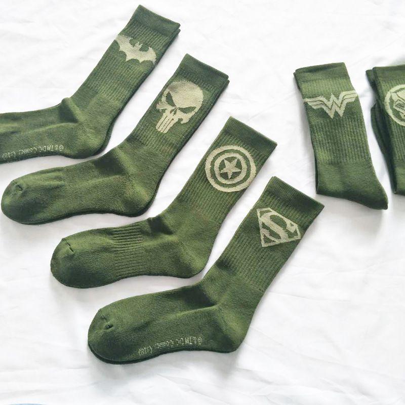 ecebebd98 2019 Marvel Sign Printing Socks Cosplay Personalized Funny Happy Funky Women  Men Sokken From Fraoe