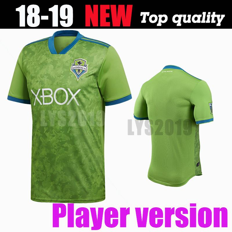 pick up 462b9 32d32 Player version Top quality Seattle Sounders jersey 18 19 DEMPSEY MARTINS  home green men shirt ALONSO LODEIRO TORRES soccer jersey 2018