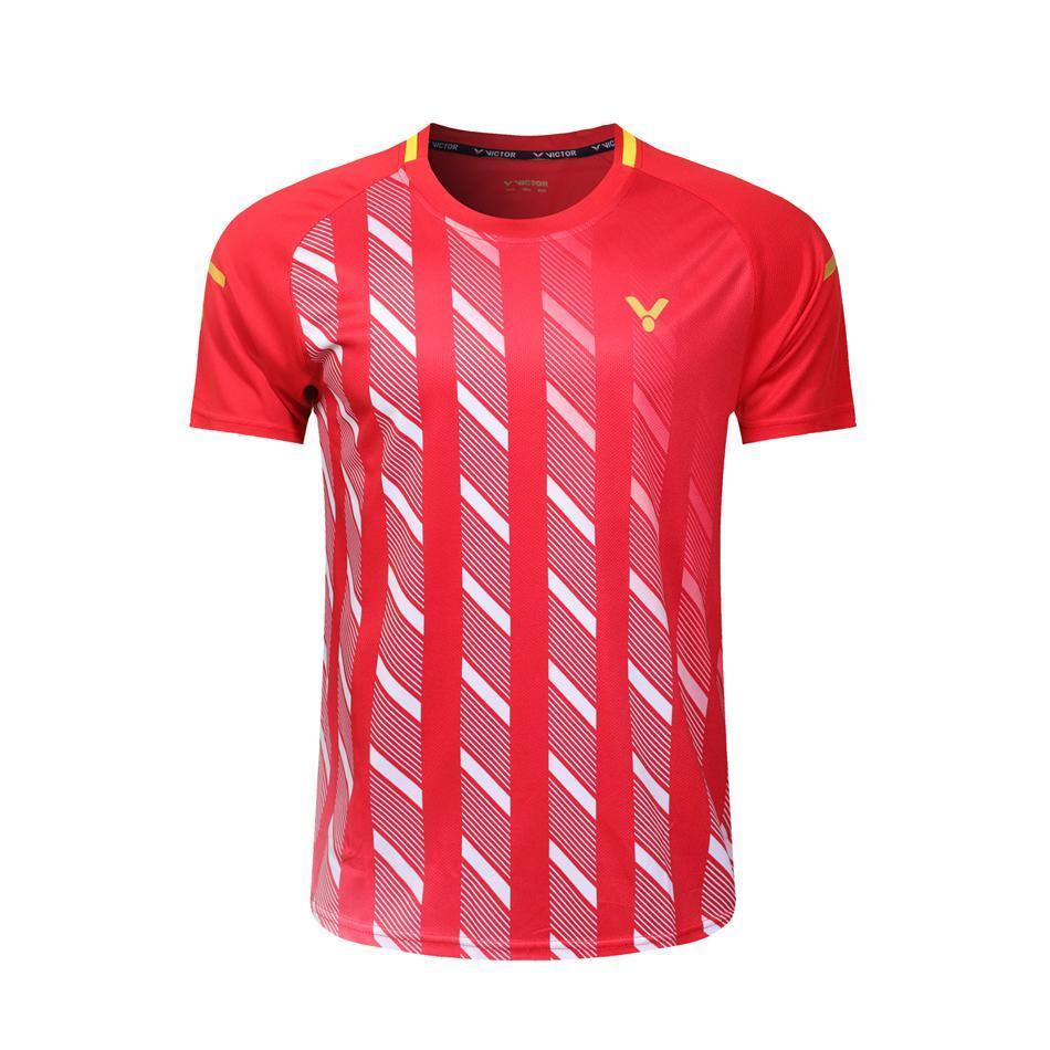 4f39d74791 Compre Novo 2019 Victor Badminton Camisa SPORT Calções Homens   Mulheres  Tênis De Mesa T Shirt