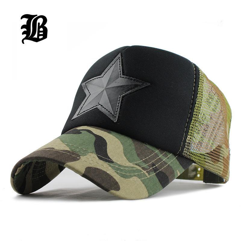 8e1a23d456e FLB Camouflage Mesh Baseball Cap Swag Snapback Desert Camo Hat For Men Cap  Hiphop God Pray