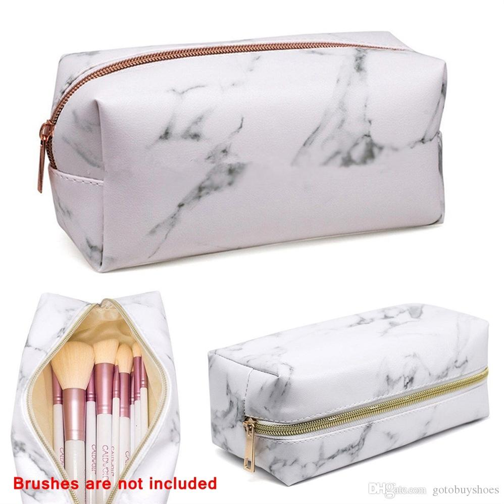 Fashion Kosmetyczka Marble Makeup Bag Women necessaire feminina Portable Tote Toiletry Bag Organizer Beauty Case Cosmetic #29988
