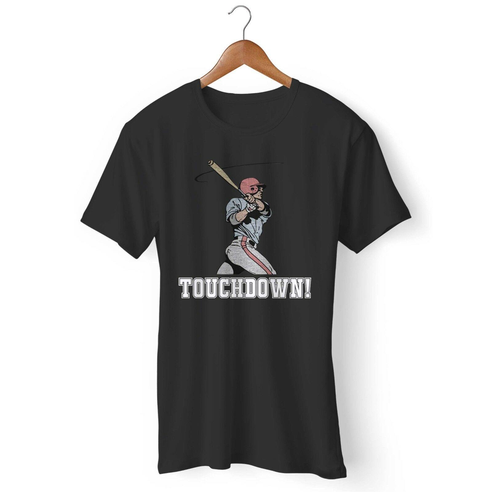 d3467831b Funny Baseball Touchdown Man's and Woman's T-Shirt Harajuku Summer 2018  Tshirt Style Round Style tshirt