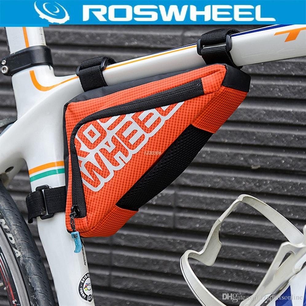 Roswheel Dreieck Fahrrad Tasche Mtb Rennrad Rohr Ecke Rahmen Werkzeug Satteltasche Radfahren Vorderen Korb Pannier Fahrrad Zubehör 225614