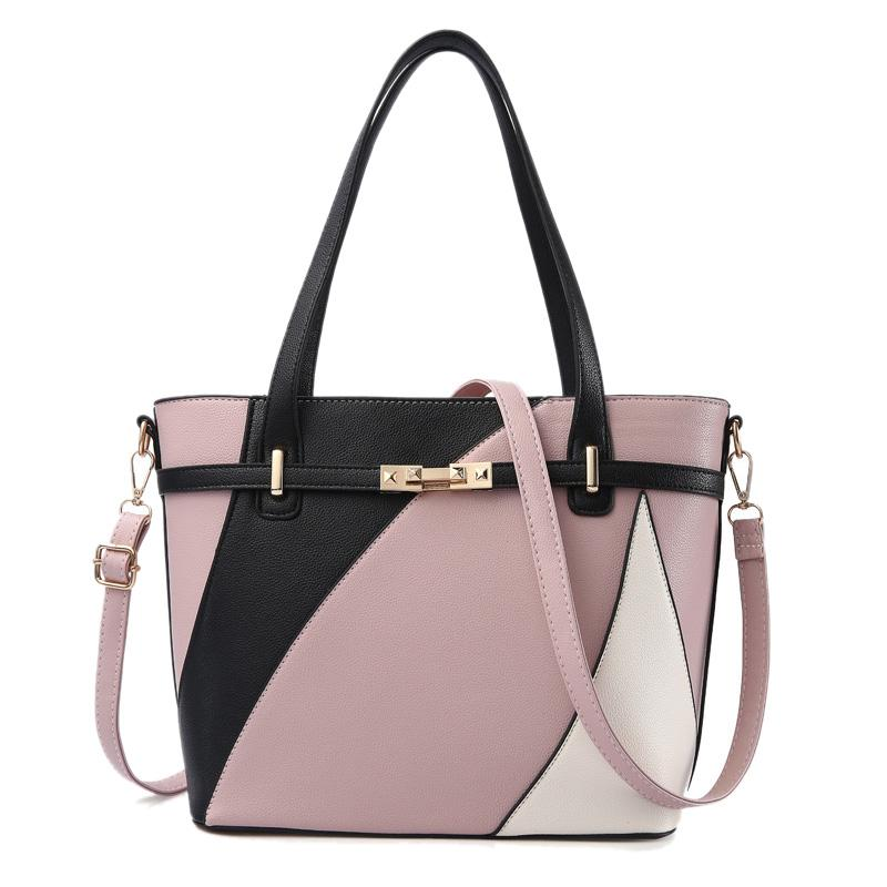 0694c2d749709 Women Fashion Style Handbag Female Luxury Chains Bags Sequined Zipper  Messenger Bag Quality Pu Leather Tote Rubber Pink Purses On Sale Men Bags  From ...