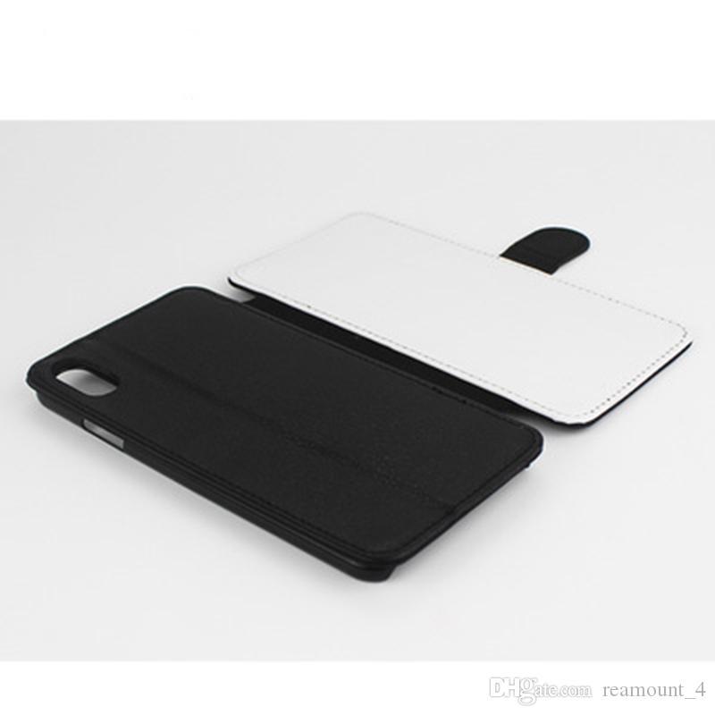 7add0af8bcfa Housse De Téléphone Portable Housse En Cuir Sublimation Pour IPhone X XR XS  XS MAX 7 7 Pplus 6 6plus Flip Blank Etui En Cuir À Transfert Thermique  Housses ...