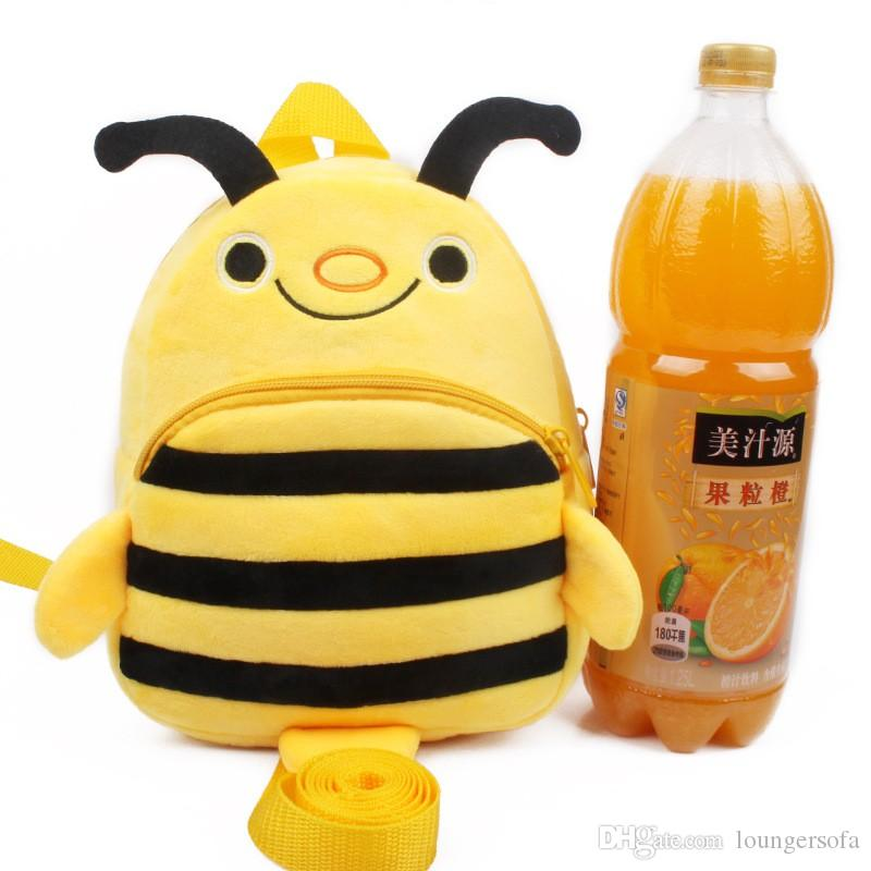 Delicate Light Yellow Bee Backpack Kids Cute Gift Cartoon Anti Stray Cartoon Plush Bag Children School Supplies 14sy Ww