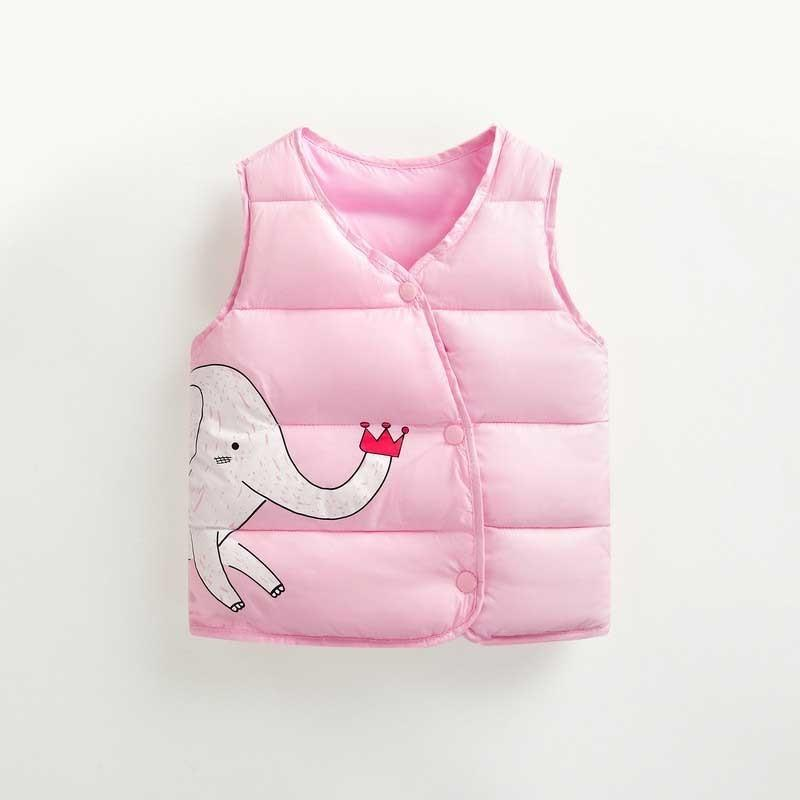 e37b15b32 Autumn Girls Outerwear Winter Warm Cotton Cartoon Kids Vests ...