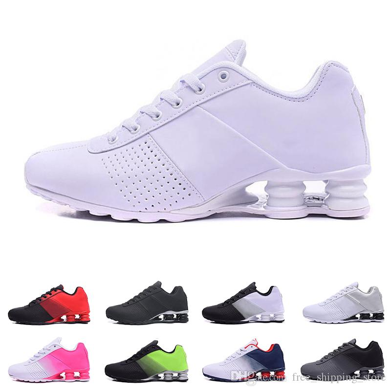 9188f8cb3f Compre Nike Shox Barato Entregar 809 Sapatos Para Homens Mulheres Designer  Mens Trainer Triplo Preto Branco Roxo Mulheres Running Shoes Moda Sports  Sneakers ...