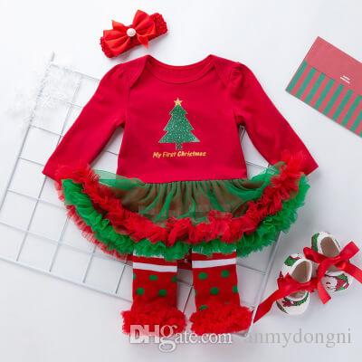 5f3c857e7e2f Girls Christmas Dress Kid Tutu Dress Baby Party Clothing Children ...