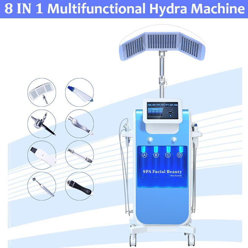 8 em 1 AUQA Oxygen Jet Spray Microdermoabrasão Hydro Peel Hydrafacial DermaaBrasion Oxigênio Equipamento Facial