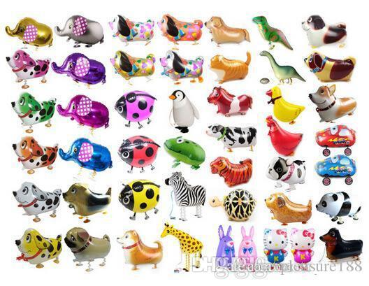 Walking Pet Animal Helium Aluminum Foil Balloon Automatic Sealing Kids Baloon Toys Gift For Christmas Wedding Birthday Party Supplies OTH00